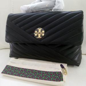 KIRA CHEVRON FLAP SHOULDER BAG